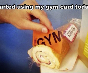 funny, gym, and cake image