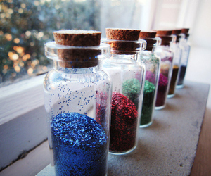 glitter, bottles, and photography image