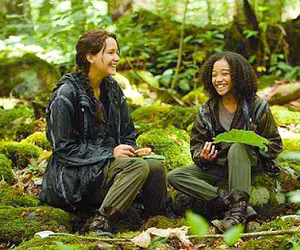 rue, katniss, and the hunger games image