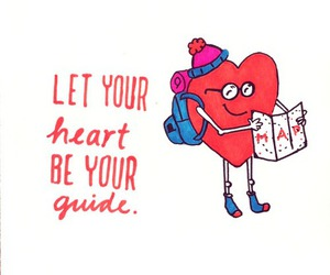 heart, guide, and map image