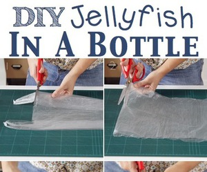 diy, jellyfish, and bottle image