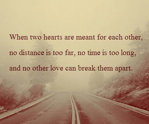 distance, quotes, and love image