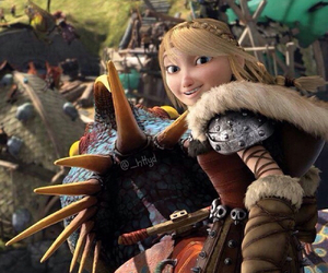 astrid, httyd, and stormfly image