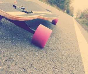 fun, longboard, and love image