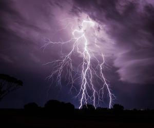 sky, grunge, and lightning image