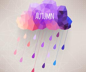 autumn, rain, and clouds image