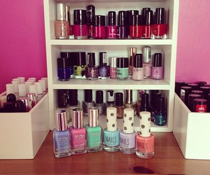 nails, colors, and girly image