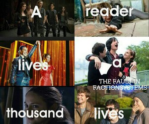 divergent, harry potter, and reader image