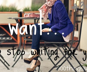 waiting and 1000 things i want image