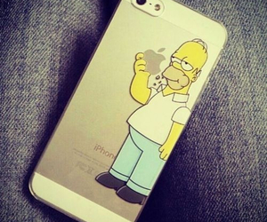 iphone, apple, and homer image