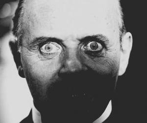 anthony hopkins, hannibal, and black and white image