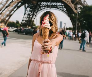 girl, paris, and ice cream image