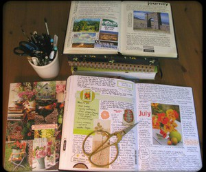 journal, art journal, and journal pages image