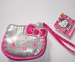 hello kitty, purse, and sequins image