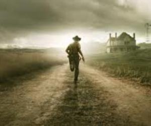 rick, the walking dead, and the farm image