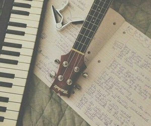 music, guitar, and piano image
