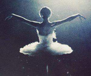 ballet, dance, and black swan image