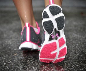 running, fitness, and pink image