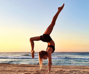 beach, sport, and yoga image