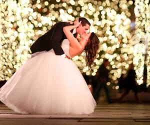 bride, white dress, and love image