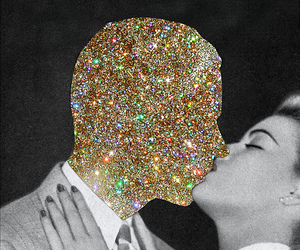 kiss, love, and glitter image