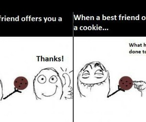 funny, best friends, and cookie image