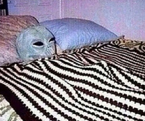 alien, grunge, and bed image