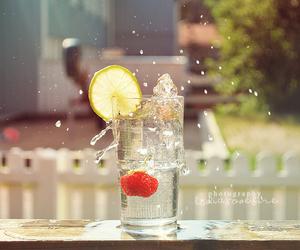 drink, lemon, and splash image
