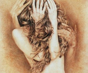 hair, Nude, and art drawing my life image