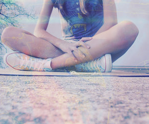 converse, girl, and legs image
