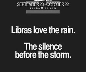 horoscope, Libra, and rain image