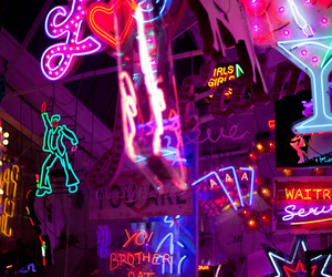 neon, glow, and lights image