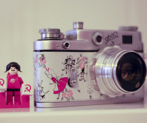 camera, cute, and pink image