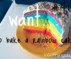 baking, cake, and rainbow image