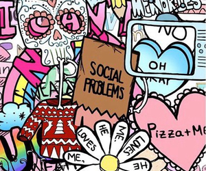 wallpapers, social problems, and pizza + me image