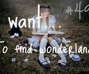alice, fantasy, and wonderland image