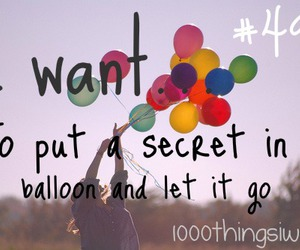 balloon and secret image