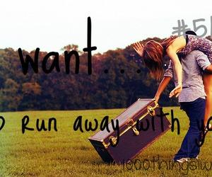 romantic, run away, and love image