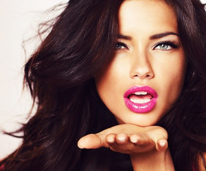 Adriana Lima, model, and lips image