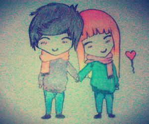 cuple, draw, and cute image