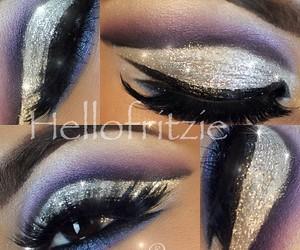 art, beautiful, and makeup image