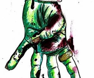 hand, tattoo, and zombie image