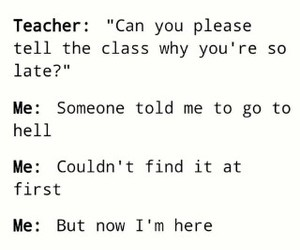 school, funny, and hell image