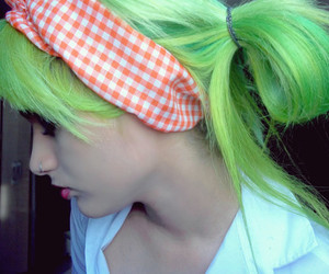 beautiful, cabelo, and green image