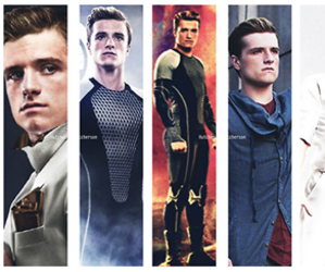 the hunger games, peeta, and catching fire image