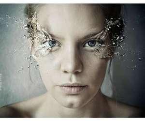 eyelashes, faces, and water image