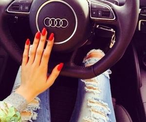 audi, car, and girl image