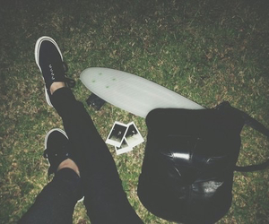 grunge, black, and vans image