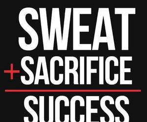 success, sweat, and fitness image
