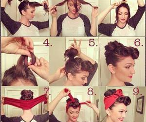 beautiful, hair style, and Pin Up image